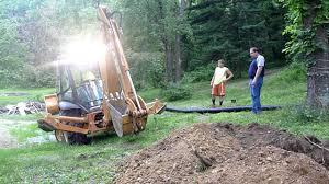 case 580 super n digging a ditch youtube