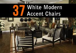 Side Chairs For Living Room 37 White Modern Accent Chairs For The Living Room