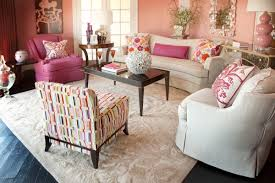 Pink Living Room Furniture Decorating With Shades Of Coral