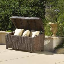 top types of outdoor deck storage boxes plus extra large cushions
