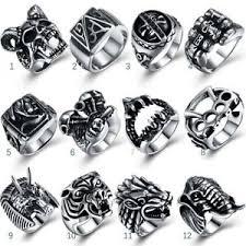 white rock rings images Cool mens jewelry punk rock rings retro titanium steeling beast jpg