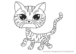 kitten coloring pages free kids cute house ideas