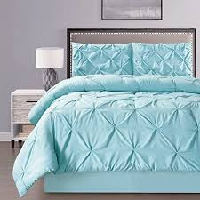 California King Goose Down Comforter 4 Pieces Double Needle Stitch Goose Down Alternative Pinch Pleat