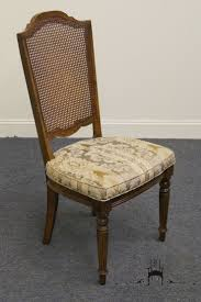 high end used furniture ethan allen classic manor cane back side