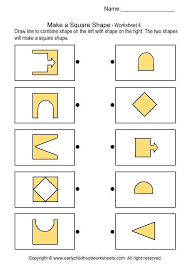 make a square shape brain teaser worksheets 4