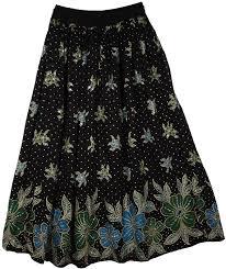 pattern for simple long skirt orange green floral pattern black skirt sequin skirts sale on