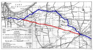 Route 40 Map by March 2014 Indiana Lincoln Highway Association