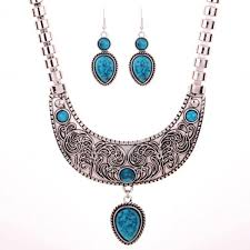 ebay necklace silver images Ebay tibetan silver jewelry vintage carved blue jpg