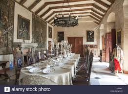 long dining table in marienburg castle lower saxony germany