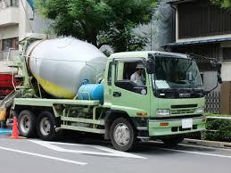 file isuzu forward cement mixer truck light green jpg