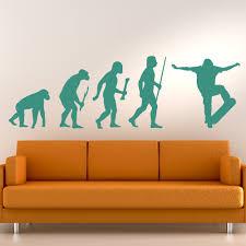 skateboard evolution ape to skater skateboarding wall stickers skateboard evolution ape to skater skateboarding wall stickers sports art decals