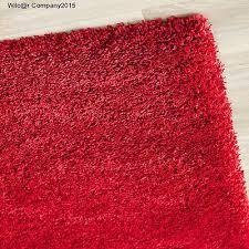 6 X 7 Area Rug Plush Red Shag Area Rug Large Fluffy Runner Rectangle Shaggy