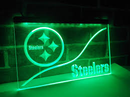 ld515 pittsburgh steelers led neon light sign home decor crafts in
