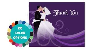 bridal shower thank you cards custom wedding thank you notes