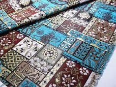 Velvet Chenille Upholstery Fabric Ethnic Tribal Style Chenille Upholstery Fabric Aztec Navajo