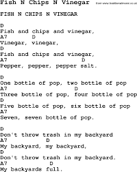 summer camp song fish n chips n vinegar with lyrics and chords