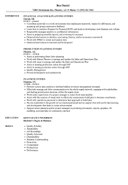 sle of resume planning intern resume sles velvet