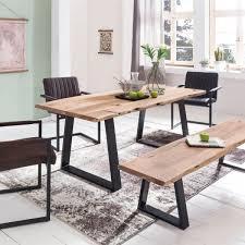 Esszimmertisch Sale Finebuy Esszimmertisch Baumstamm Massivholz Akazie 160 X 80 Cm