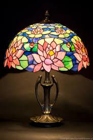 Schlafzimmer Lampe Nachttisch Tiffany Glaskunst Glasmalerei Tischleuchte Glasmalerei