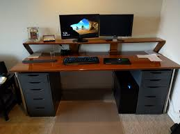 Used Adjustable Height Desk by My Custom Bamboo Plywood Desk Build Album On Imgur
