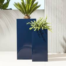 Tall Galvanized Planter by Tall Navy Planters