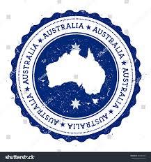 australia map flag vintage rubber stamp stock vector 364643093