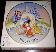 25th anniversary plates nib vintage 1996 walt disney world 25th anniversary collector s