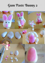 my easter bunny how to make a gum paste easter bunnies tutorial veena