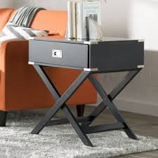 Black Side Table Modern Black End Side Tables Allmodern
