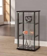 Corner Glass Display Cabinet Ebay Black Cabinets And Cupboards Ebay