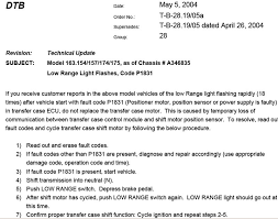 low range flashing light at startup p1831 tsb mercedes benz forum
