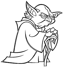 sumptuous design yoda coloring pages star wars free printable