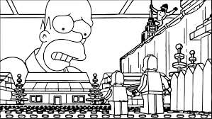 lego the simpsons coloring page wecoloringpage