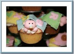 baby shower cupcakes with free printable cupcake pinwheels
