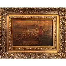 exceptional ralph albert blakelock u201cthe oak cart u201d oil painting