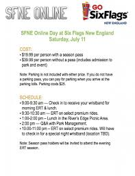 What Is The Cost Of Six Flags Tickets Sfne Online Day At Six Flags New England Is On July 11 Sfne Online