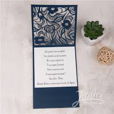 pocket wedding invitation delicate purple floral laser cut pocket wedding invitations