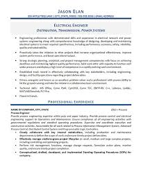 Project Resume Example by Electrical Engineer Resume Example