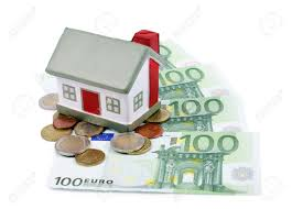 the toy house for euro banknotes isolated stock photo picture and
