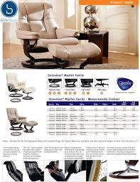 Small Leather Chair And Ottoman Ekornes Stressless Mayfair Leather Recliner And Ottoman Mayfair