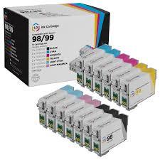 epson ink 99 light magenta economic 13 cartridge set for epson 98 bundle ld products