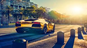 gold lamborghini wallpaper lamborghini aventador lp700 4 gold color sun sunset supercar back