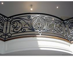 good looking interior wrought iron railings feature black stained