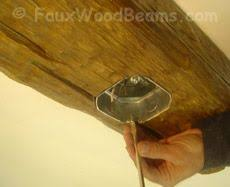 Fake Ceiling Beams by How To Install Faux Wood Beam On Cathedral Ceilings For The Home