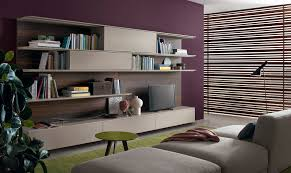 contemporary tv wall unit wooden lacquered wood online by