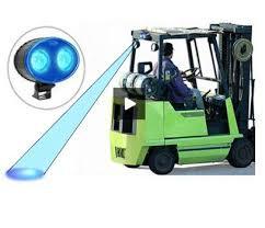 blue warning lights on forklifts 1pc 20w led forklift blue warning light 10 80v fork lift led spot