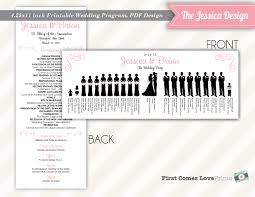 wedding programs catholic mass silhouette wedding program catholic wedding the