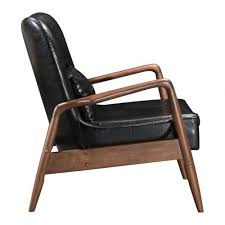 Black Chair With Ottoman 100534 Bully Lounge Chair U0026 Ottoman Black