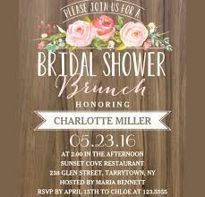 bridal shower brunch invitations 40 bridal shower invitation exles