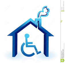 handicapped house plans handicap house stock image image 27946661